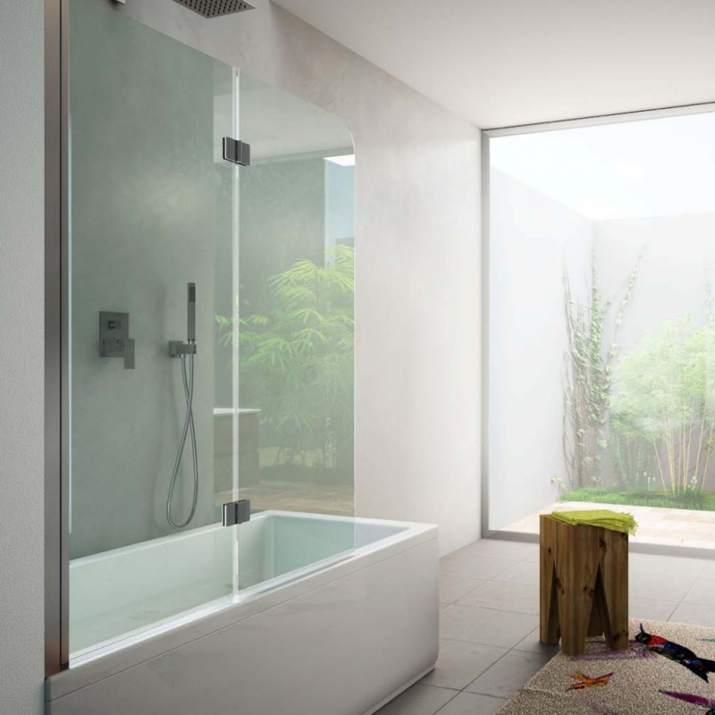 Schermo per vasca con soffietto i t e a sas vendita - Box per vasca da bagno a soffietto ...