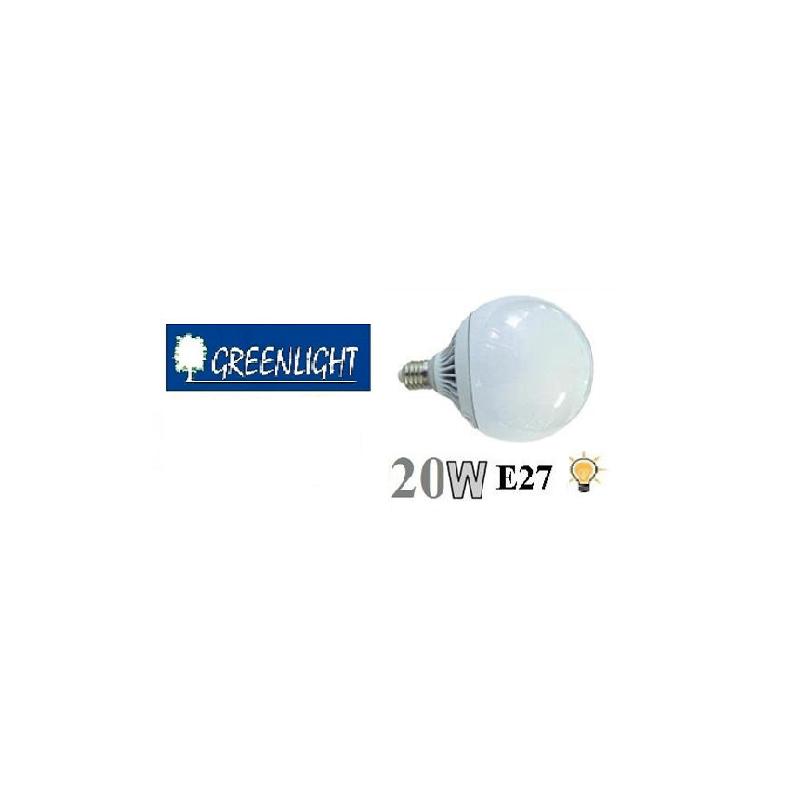 Lampada led globo e27 20w 6400k bianco freddo for Lampada globo