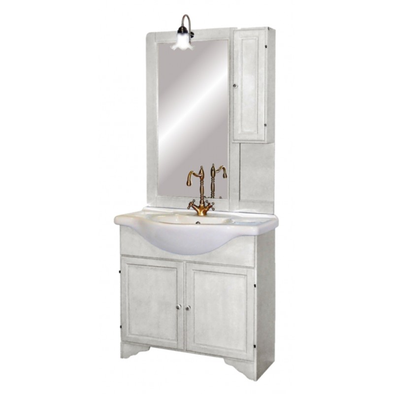 Mobile bagno decape 39 bianco nicoletta - Mobile bianco bagno ...